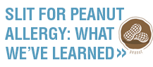 SLIT for Peanut Allergy: What we're learning from clinical experience