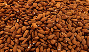 Almonds are an excellent source of vitamin E and manganese and a good source of fiber, protein, riboflavin, magnesium, phosphorus, and copper.