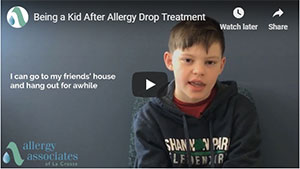 Being a Kid After Allergy Drop Treatment